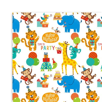 Cartoon gift wrapping paper Unicorn Dinosaur Flamingo wrapping paper 20sheets
