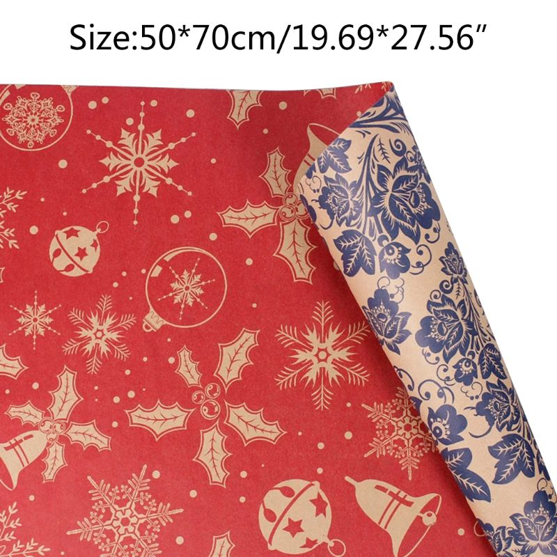 5pc Christmas Kraft Gift Wrapping Paper