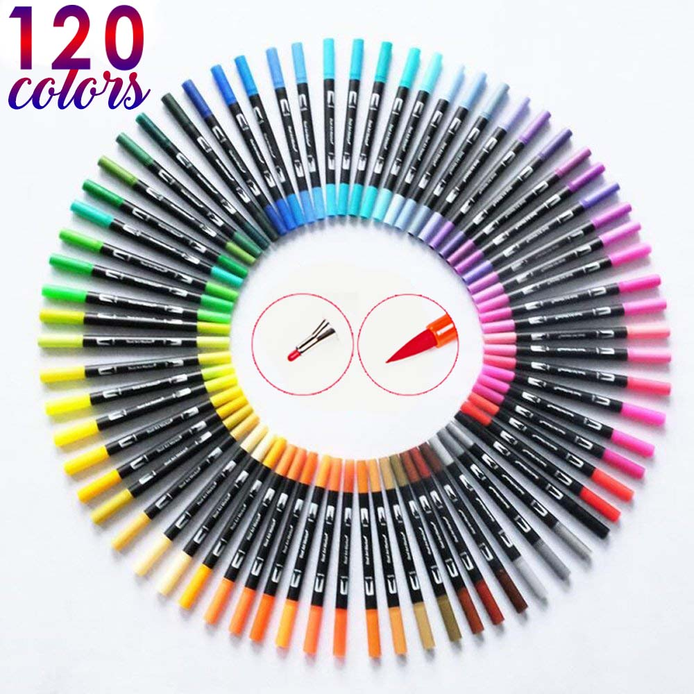 120 Dual Tip Markers