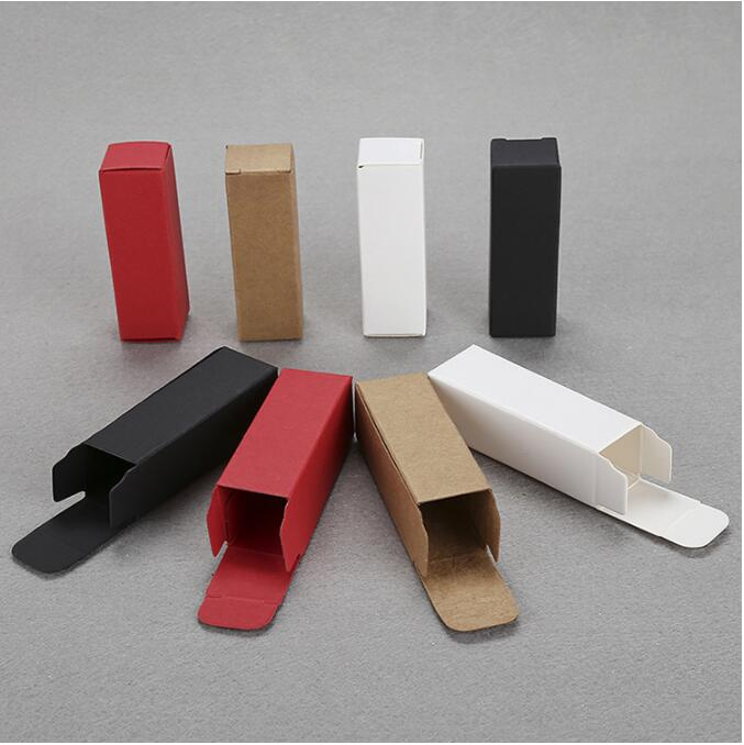 100pcs Red White Black Kraft Paper Gift Box - Small Lipstick Size Box