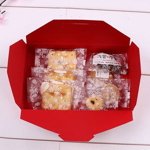 25pcs- 19.5*12.5*4cm  White Black Red Brown Cake Cookie Candy Box Gift Boxes