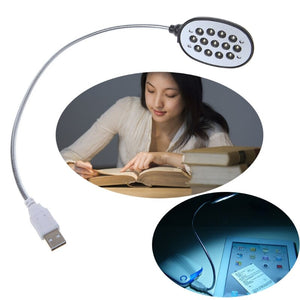 Plastic USB, Laptop 13 LED White Flexible Light