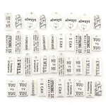 40 Piece Silver-Plated Pendants with Engraved Words for DIY Jewelry Making