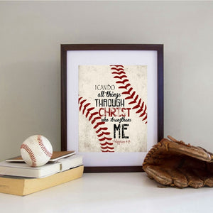 Christian Baseball Vintage Art Prints