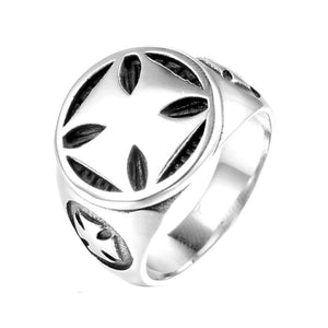 Stainless Steel Cross Ring for Men