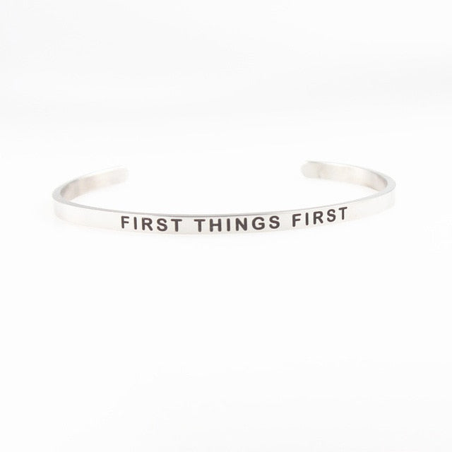 Stainless Steel Inspirational Bracelets