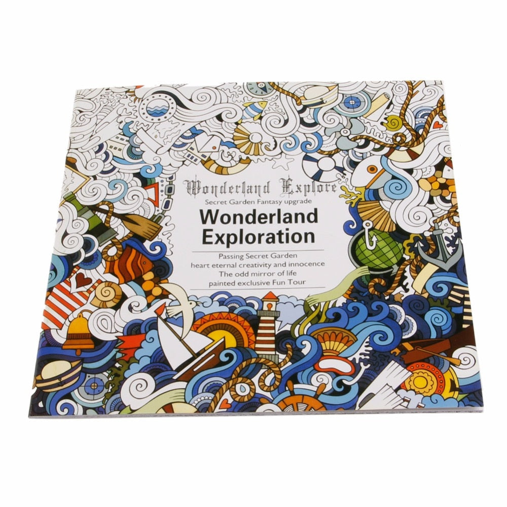 Adult Coloring Book Wonderland Exploration