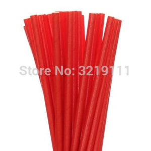 25pcs Red, Black, and White Paper Straws