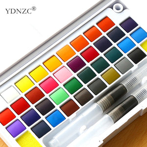 Quality Solid Pigment Watercolor Paints Set With Brushes