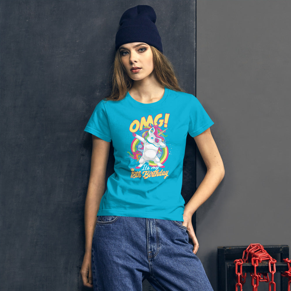 OMG It's my 18th Birthday Frauen Kurzärmeliges T-Shirt