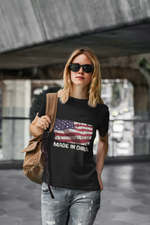 USA Flagge Mauer Made in China  - Damenshirt