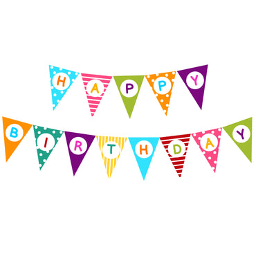 BANNER HAPPY BIRTHDAY TRIÁNGULO