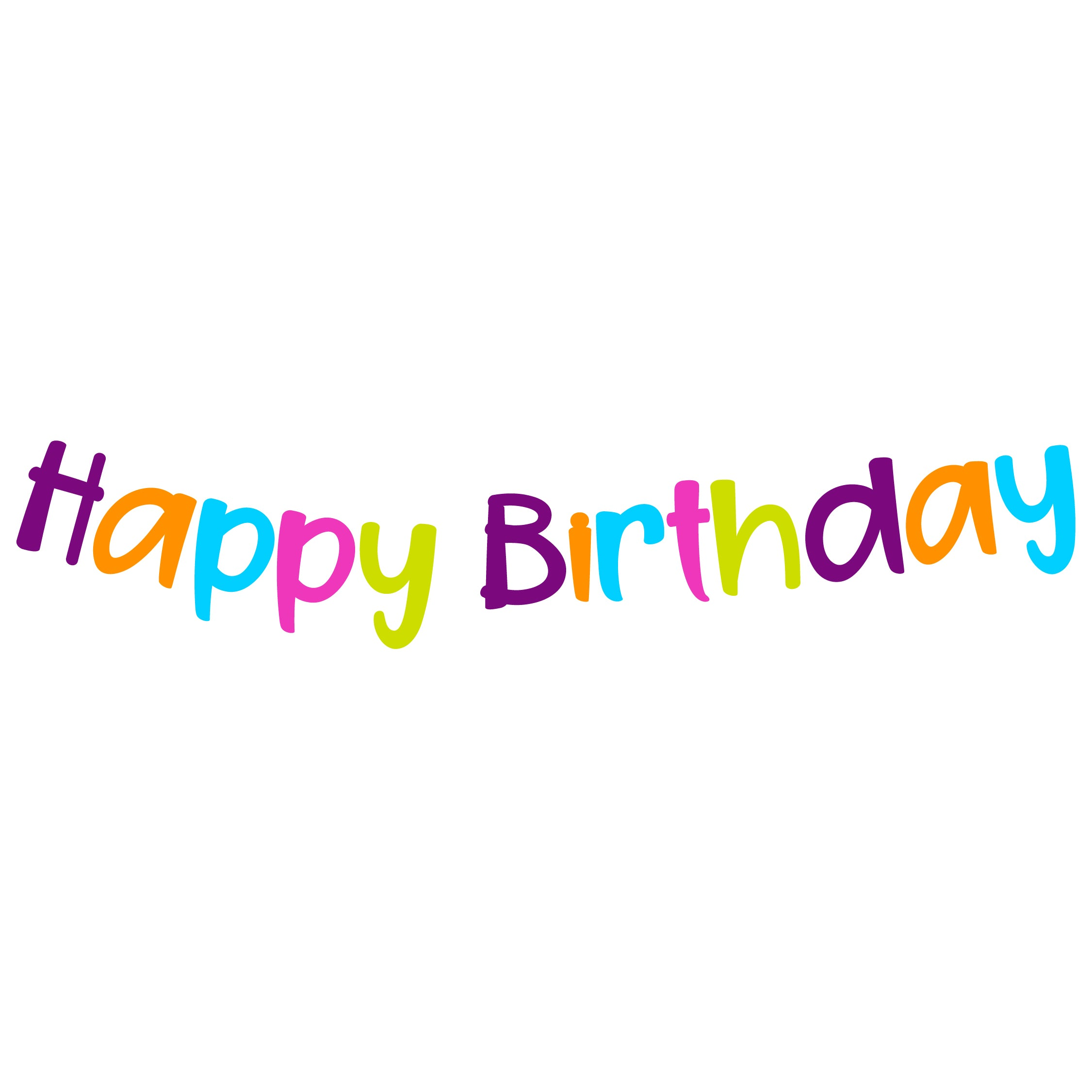 BANNER HAPPY BIRTHDAY LETRAS MULTICOLOR