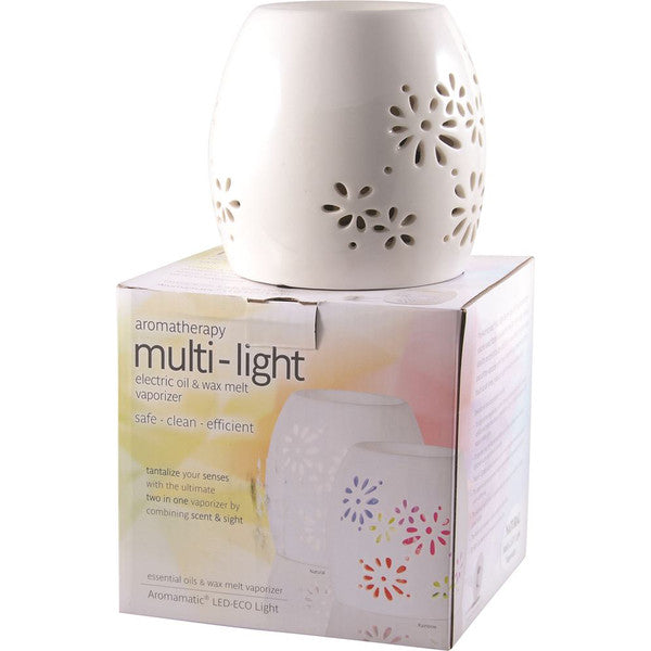 Aromamatic Vapouriser Electric Multi Light Natural (2inOne)