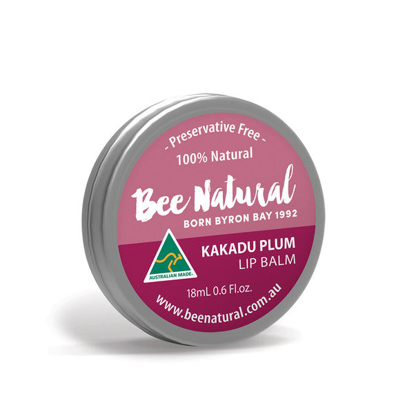 Bee Natural Lip Balm Tin Kakadu Plum 18ml