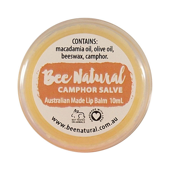 Bee Natural Lip Salve Jar Camphor 10ml