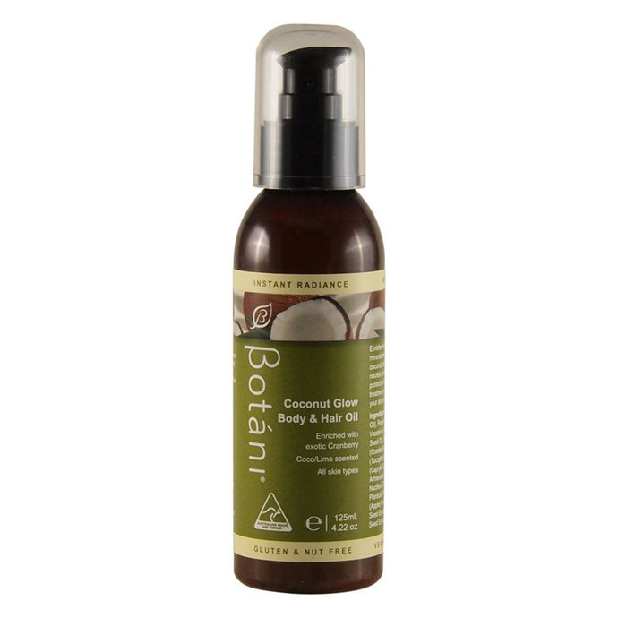 Botani Coconut Glow Body and Hair Oil 125ml