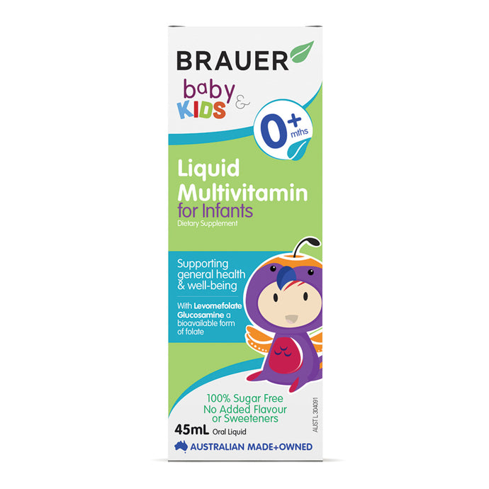 Brauer Baby & Kids Liquid Multivitamin for Infants (0+ months) 45ml