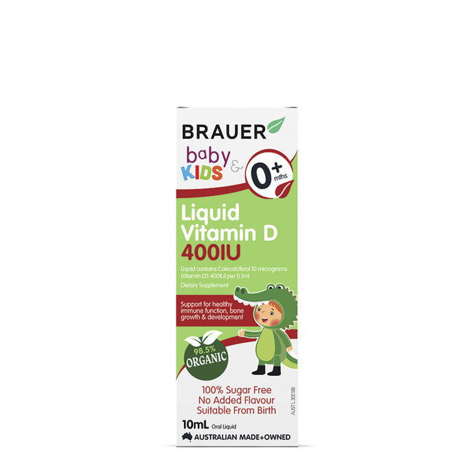Brauer Baby & Kids Liquid Vitamin D 400IU (0+ months) 10ml