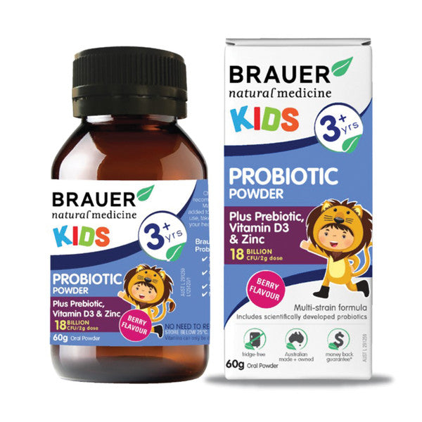 Brauer Kids Probiotic Powder (3+ years) 60g Oral Powder