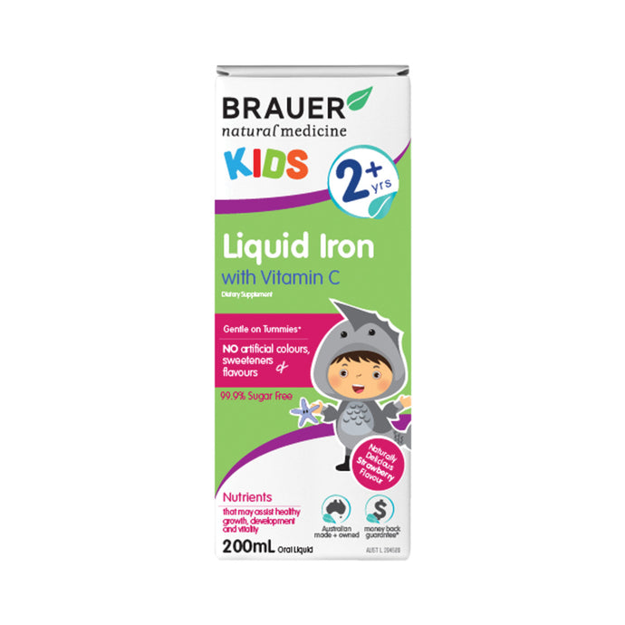 Brauer Kids Liquid Iron with Vitamin C (2+ years) 200ml