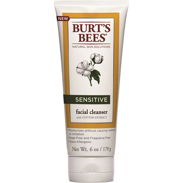 Burts Bees Sensitive Facial Cleanser with Cotton Extract 170g