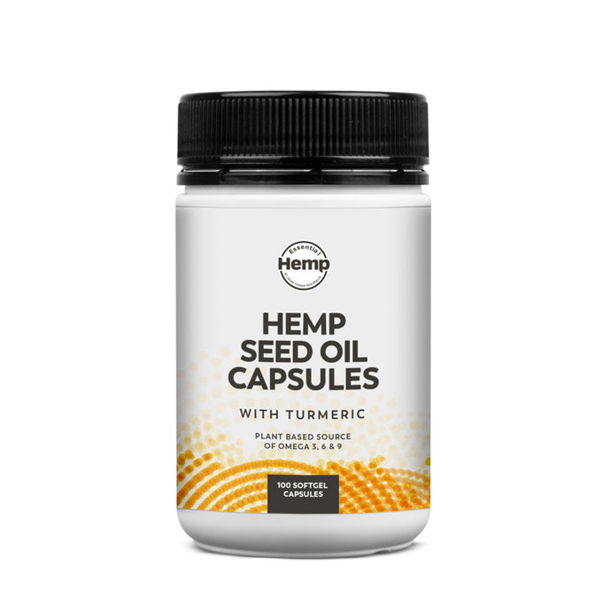 Essential Hemp Hemp Oil and Turmeric Capsules 100c