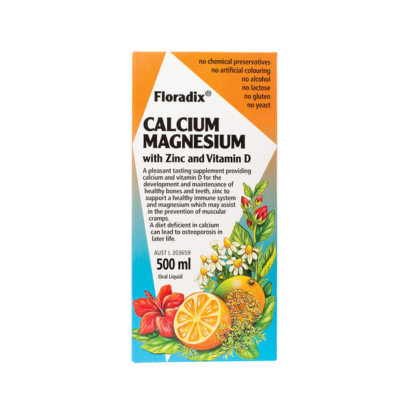 Floradix Calcium Magnesium with Zinc and Vitamin D 500ml Oral Liquid