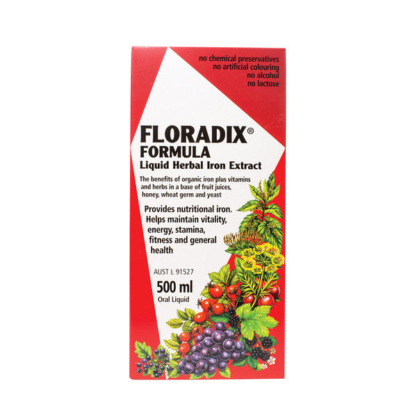 Floradix Formula (Liquid Herbal Iron Extract) 500ml Oral Liquid