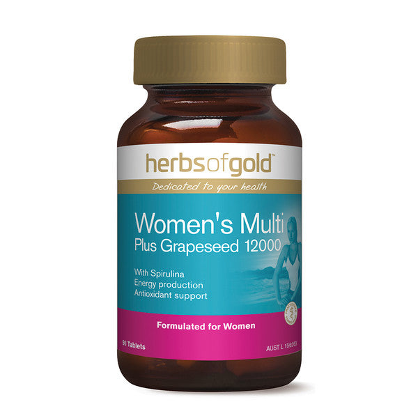 Herbs of Gold Women's Multi plus Grapeseed 12000 90t