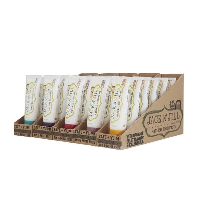 Jack N' Jill Natural Toothpaste with Calendula (Fluoride Free) 50g x 30 Pack