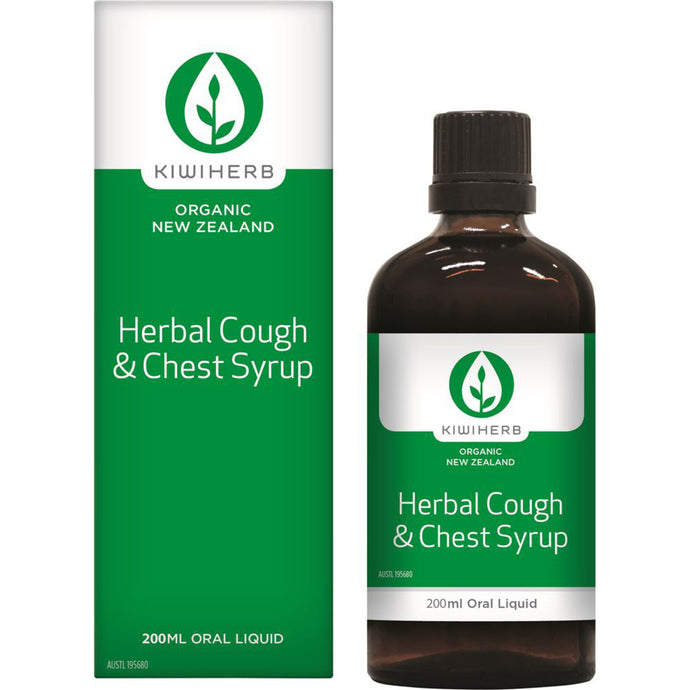 KiwiHerb Herbal Cough & Chest Syrup 200ml Oral Liquid