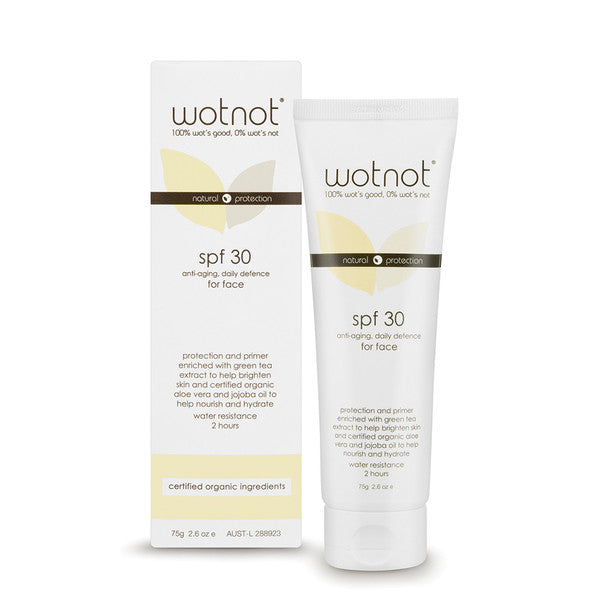 Wotnot Anti-Aging Daily Defence For Face SPF 30 75g