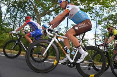 A steel bike has its day at the Tour De France.