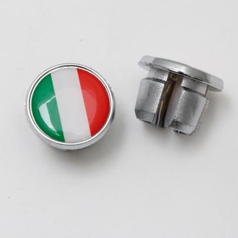 International Flag Bar Plugs Italy Pair