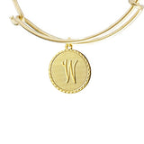 Vintage Monogram Coin Bangle (Individual Letters)