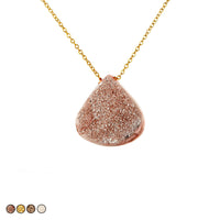 Large Drusy Necklace (Rose Gold)