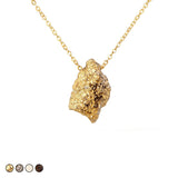 Meteorite Drusy Necklace (Silver)