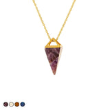 Pyramid Prism Necklace (Iridescent)
