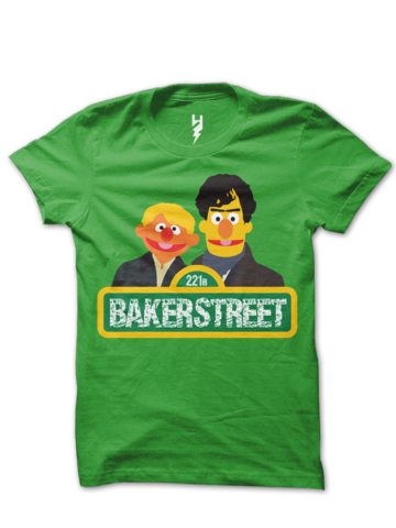 Sesame Street series mashup with BBC's Sherlock - The most famous location of them all, the home of Sherlock Holmes and John Watson, 221B Baker Street. - Sherlock TV Series Inspired Tee
