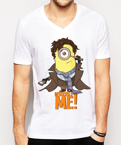 Buy the latest Graphic Minion Sherlock TV Series Inspired  t-shirts  online For Men, Women, Guys & Girls in India at OSOMWEAR .Free Shipping Cash on Delivery