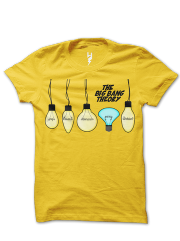 The Big Bang Theory TV Show Series Tribute T-shirt - Hang the boys & handle the blue one with care.