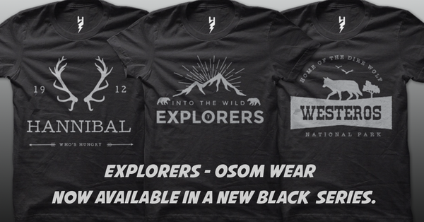 Introducing 3 OSOM Black Exclusive T-Shirts For The Free Young & Wild