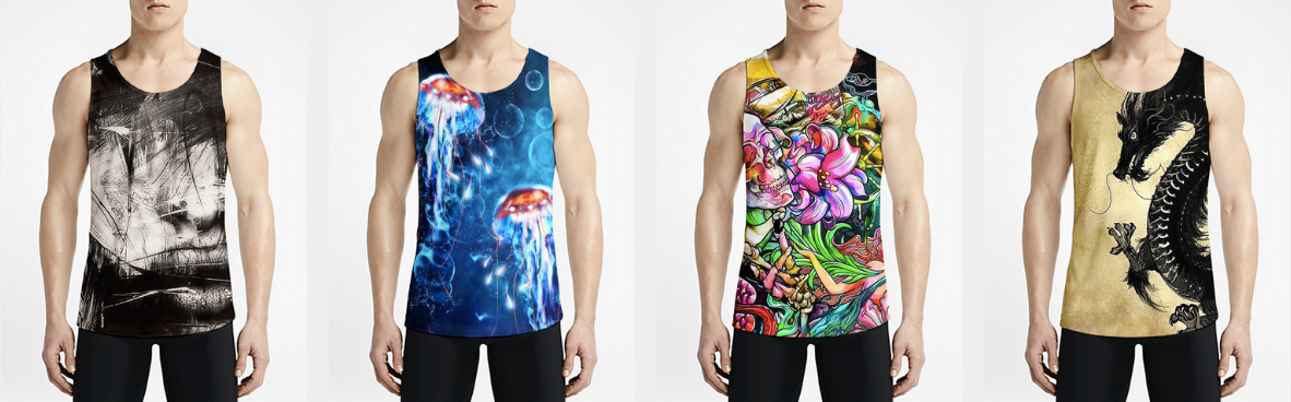 OSOMWEAR brings high fashion aesthetic Tank Tops for Men with bold artwork and street-ready