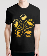 THE LIZARD SPOCK EXPANSION - Sheldon's T-Shirts From The Big Bang Theory in India, also available online to buy for Men & Women in Hoodies, Raglans & Long Sleeves
