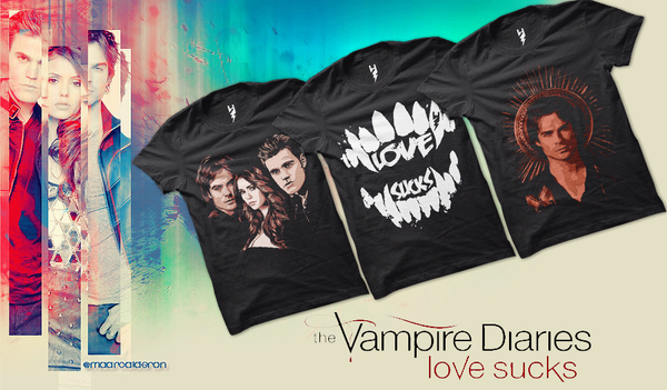 The Vampire Diaries Love suck Season 6 Images Of Characters Digitally Printed In Front Of T shirts Is Available On osomwear.com With Free Shipping At Your Door Steps.