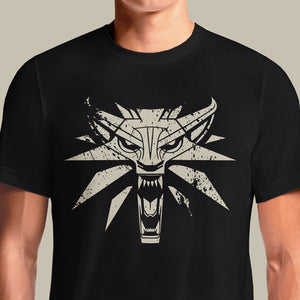The Witcher 3 Gaming tshirt India | Witcher White Wolf - OSOMWEAR