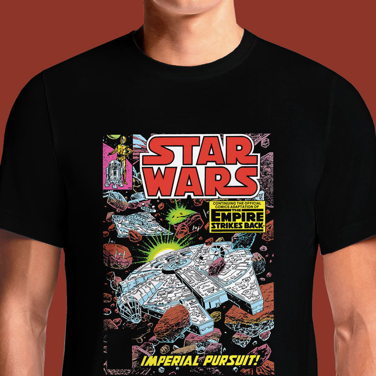 Jedi Approved Official Star Wars Vintage Comics T-Shirt | OSOM Translated into limited edition art, published between 1977 - 1986, first official comic book adaptation of Star Wars. This collection pays tribute to Han Solo, Luke Skywalker, Princess Leia, the Stormtroopers, R2-D2, C-3P0 and the greatest villain of all time, Darth Vader, all make an appearance in the series.