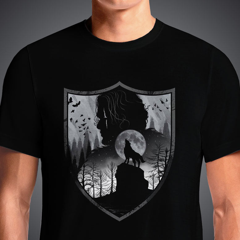 Buy Game Of Thrones Men's House Stark Winterfell T-Shirt. Game of Thrones Shirt, Mother of Dragons shirt, House Stark shirt, GOT shirt, Winter is coming tshirt, The north Remembers shirt, Khaleesi. Winds Of Winter Game of Thrones House Stark Shield Black T-Shirt
