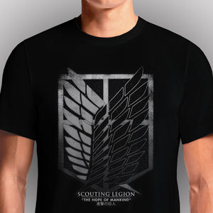 Shop Shingeki No Kyojin Attack On Titan | Anime T-Shirt in India Attack on Titan Scouting Legion Black T-Shirt. Everyone should watch Attack on Titan (like, right now)! Let me tell you a bit about Shingeki no Kyojin aka Attack on Titan, just in case there are ...